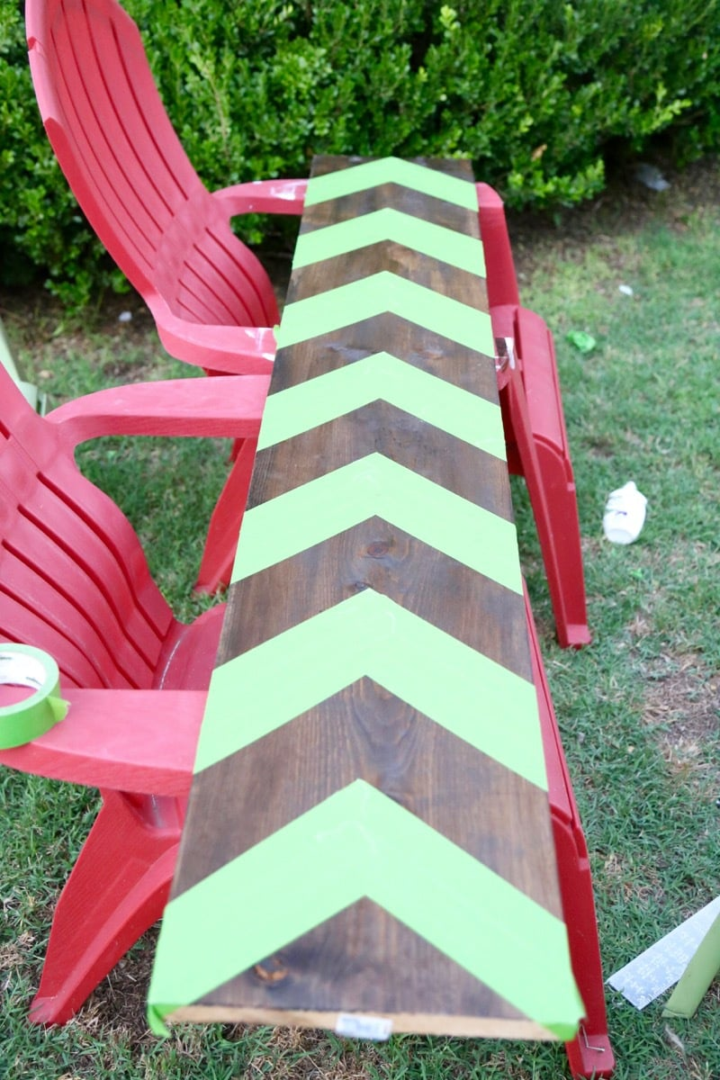 how to paint chevron stripes