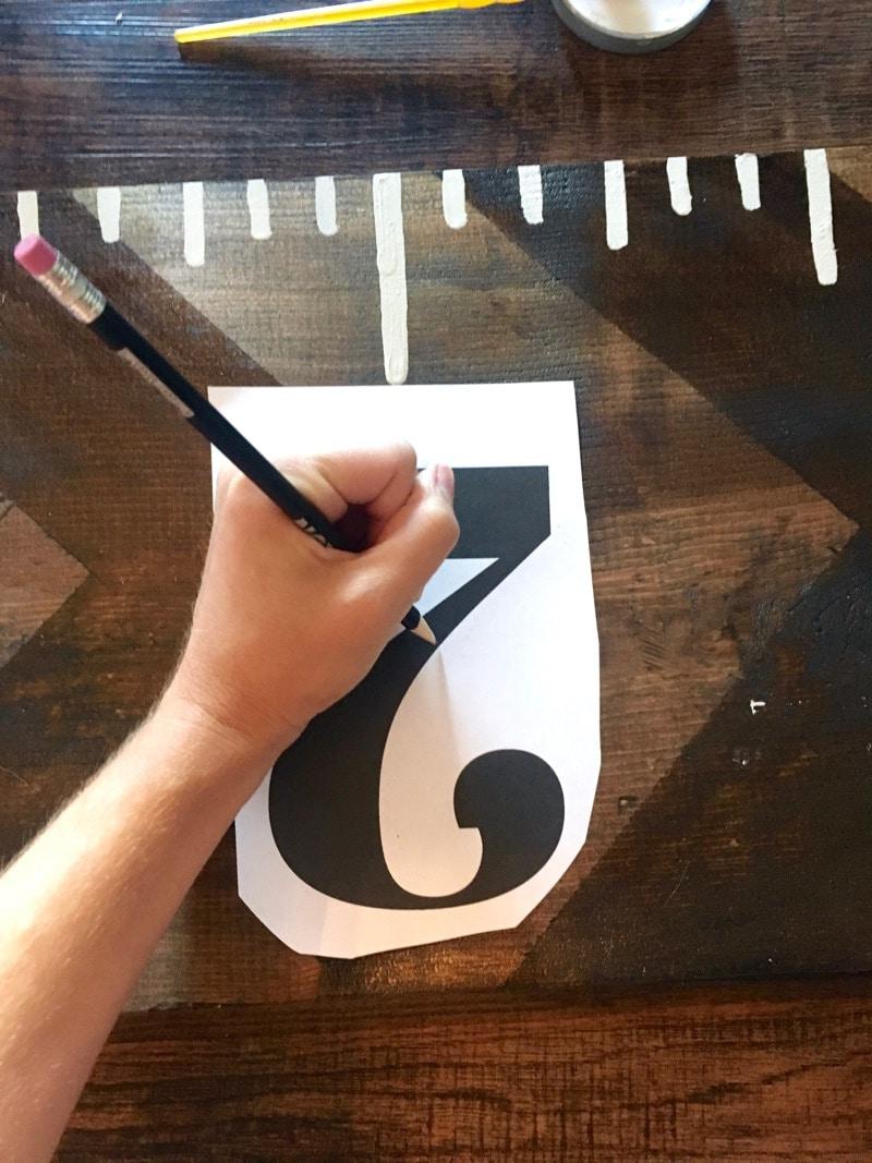 Easy DIY growth chart ruler