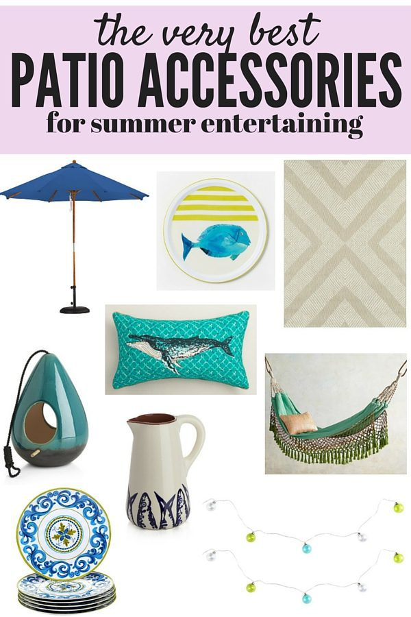 A roundup of the cutest, best, and most affordable accessories for your patio this summer. Everything is under $150 and coordinated... you do not want to miss out!