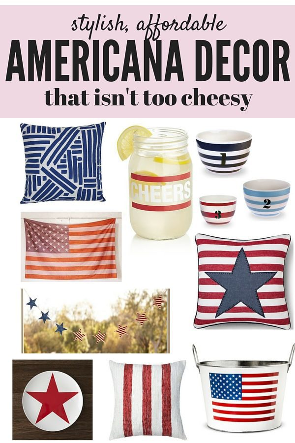 A roundup of cute, affordable red, white, and blue Americana decor for your 4th of July celebrations, and it will all look great in your home year-round too!