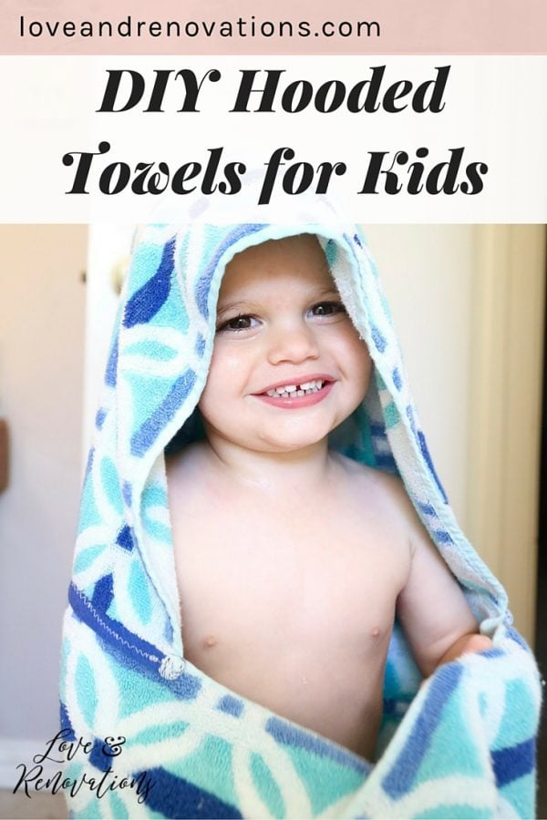 Hooded towels are so convenient and kids love them, but it can get pricey to buy them pre-made! This quick tutorial will teach you how to make them in just minutes and very affordably! And they're SO cute!