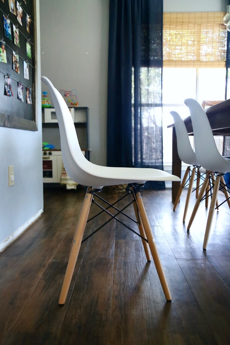 These Baxton Studio molded plastic chairs are so beautiful and affordable but it can be hard to know if purchases like this are worth it without seeing them in person! This detailed review of the chairs is a really helpful way to decide if they're right for you.