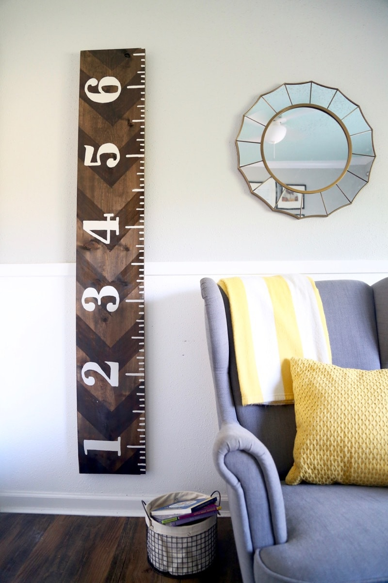 diy growth chart ruler
