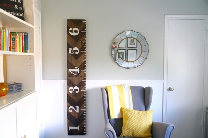 Diy Wooden Growth Chart That Looks Like A Ruler Love Renovations