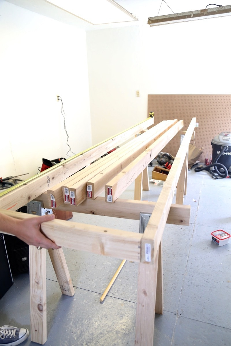building a frame for a workbench