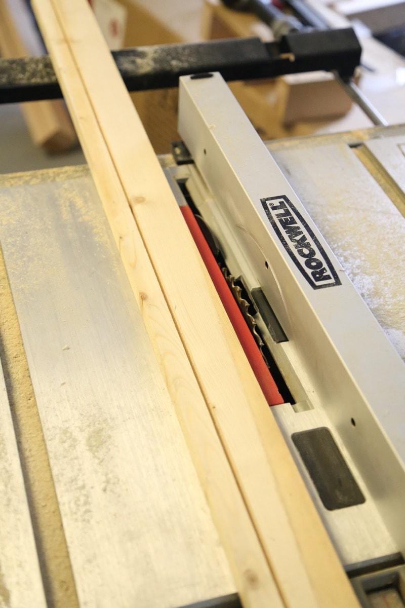 building frame for DIY pegboard