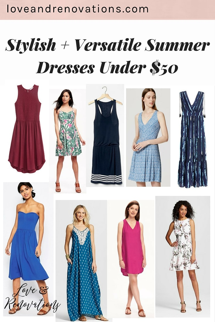 I have such a hard time packing for events when I'm not quite sure what to wear. These dresses are perfect - they can all be dressed up or down really easily, and they're all under $50! Perfect!