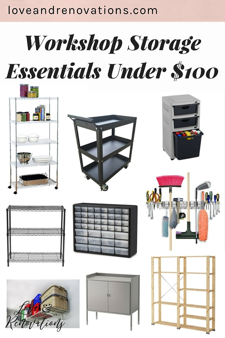 My workshop is in need of some SERIOUS organization help! These organization systems are all under $100 and are perfect for keeping your tools and hardware totally organized. #5 is one of the best tools ever for organizing little pieces!