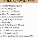 Fall 2016 Bucket List