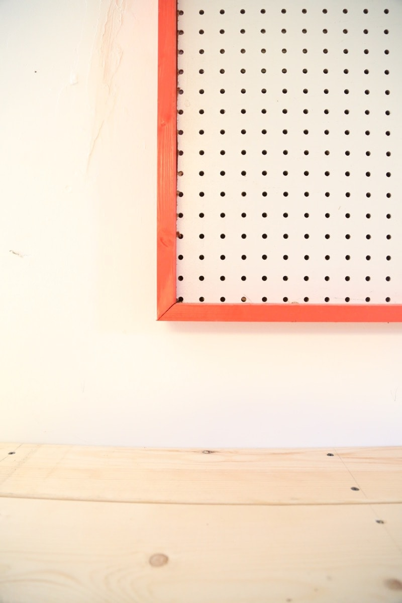 Pegboards are such a great way to keep all of your tools organized. This giant pegboard is amazing and actually looks really cute! Such an awesome way to keep everything nice and clean!