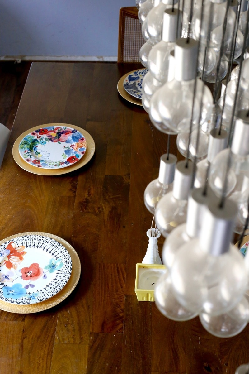 Table set with Anthropologie plates