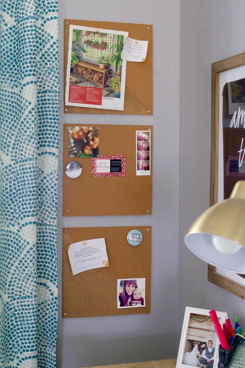 Easy DIY bulletin board