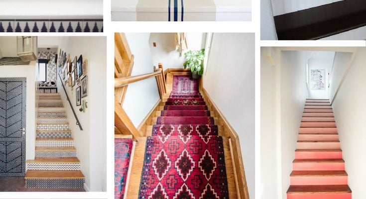 Who knew there were so many different ways you could make over your staircase? All of these ideas are so gorgeous, and it's a surprisingly affordable project!