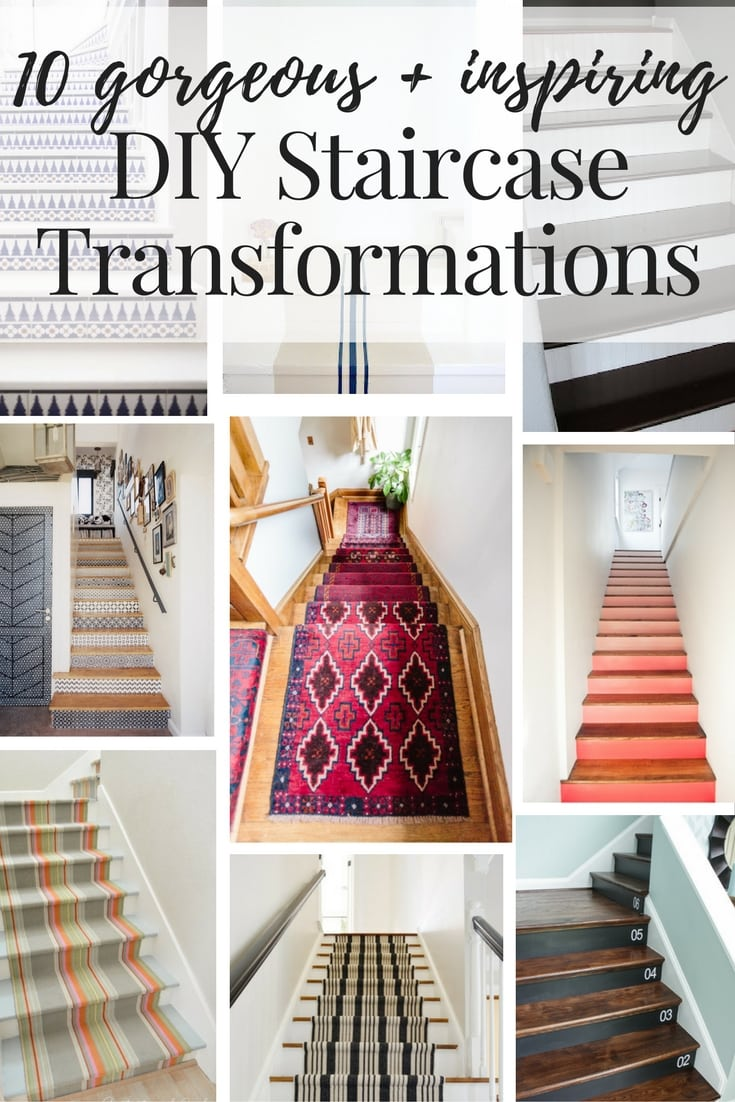 Staircase makeover ideas how to make your staircase for Diy staircase makeover
