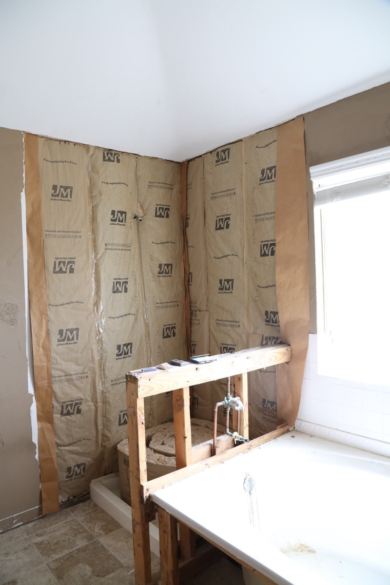 Before photos of a bathroom remodel