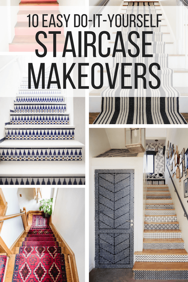 Great DIY staircase makeover ideas that you can try in your home this weekend!