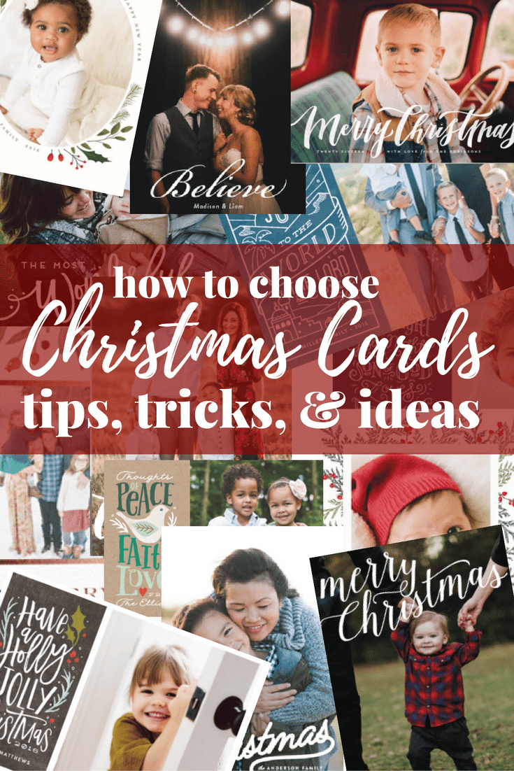Tips, tricks, and ideas for how to choose your Christmas cards this year. Great tips and tricks for choosing a creative, beautiful, and easy option!