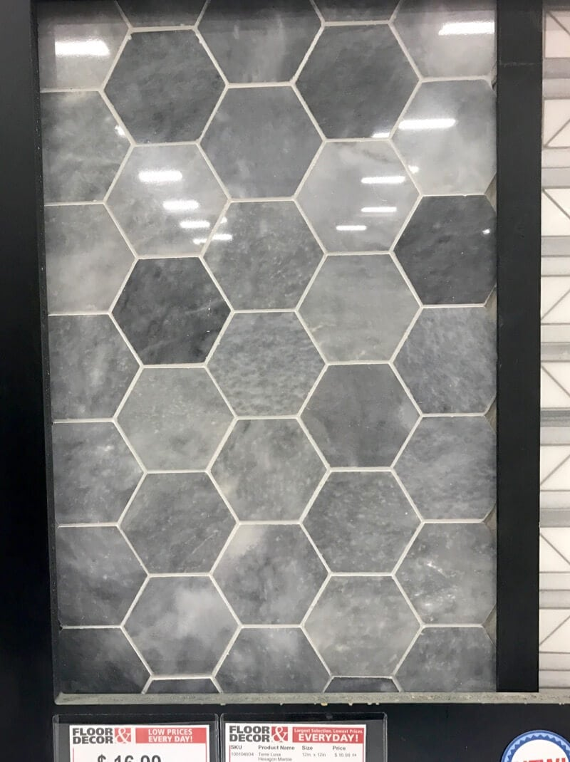 gray hex tile