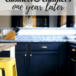 Our Painted Cabinets & Counters – One Year Later