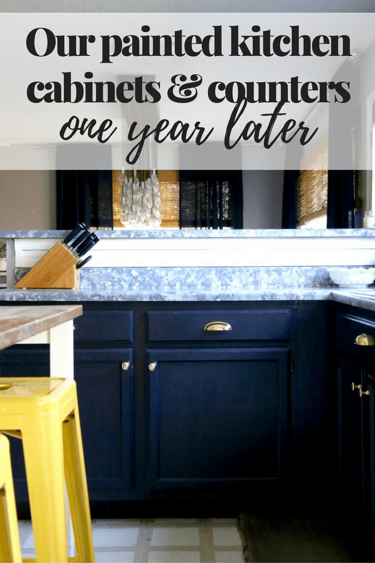 painted kitchen cabinets and countertops & Painting Laminate Countertops: Should You Try It? - Love u0026 Renovations