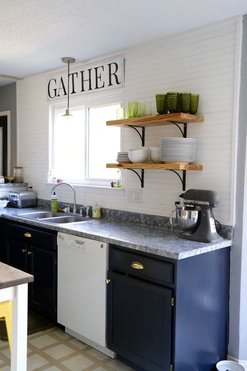Diy painted kitchen countertops