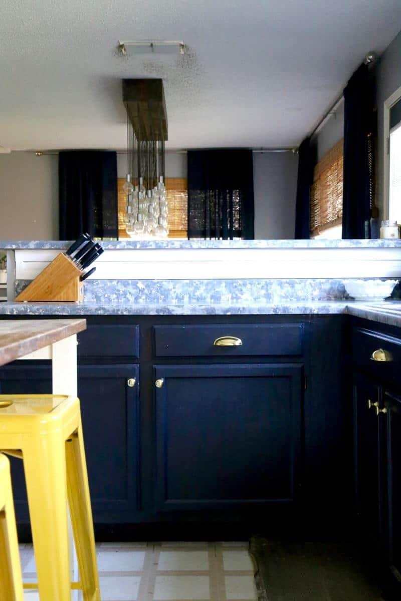 DIY Faux Granite Countertops | Love & Renovations
