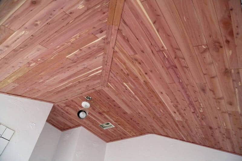 How To Install A Cedar Planked Ceiling