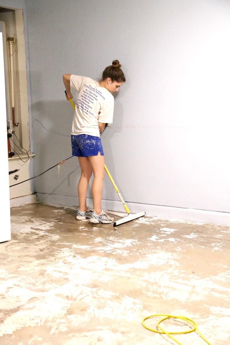 Preparing floor for Rock Solid epoxy coating