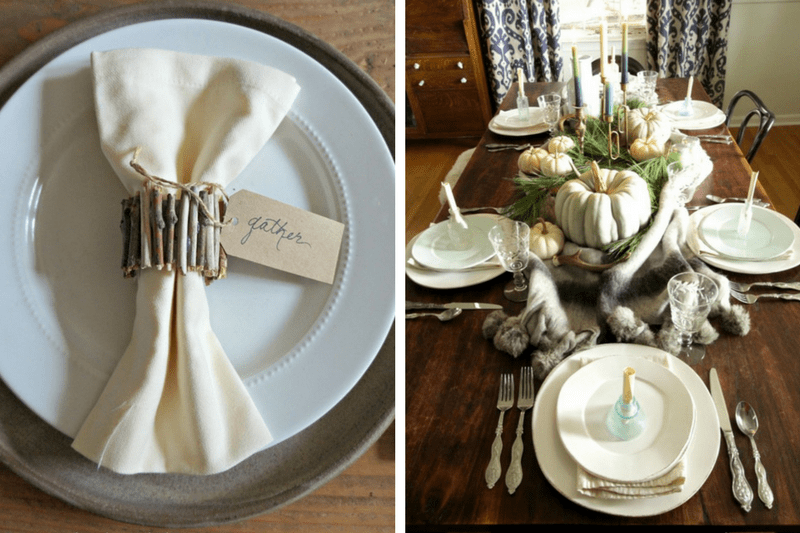 There are so many awesome tablescape ideas for Thanksgiving here! If you're stuck on how to set your table for Thanksgiving this year, this is the post for you!