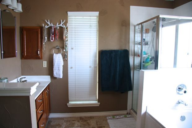 Master bathroom renovation: before