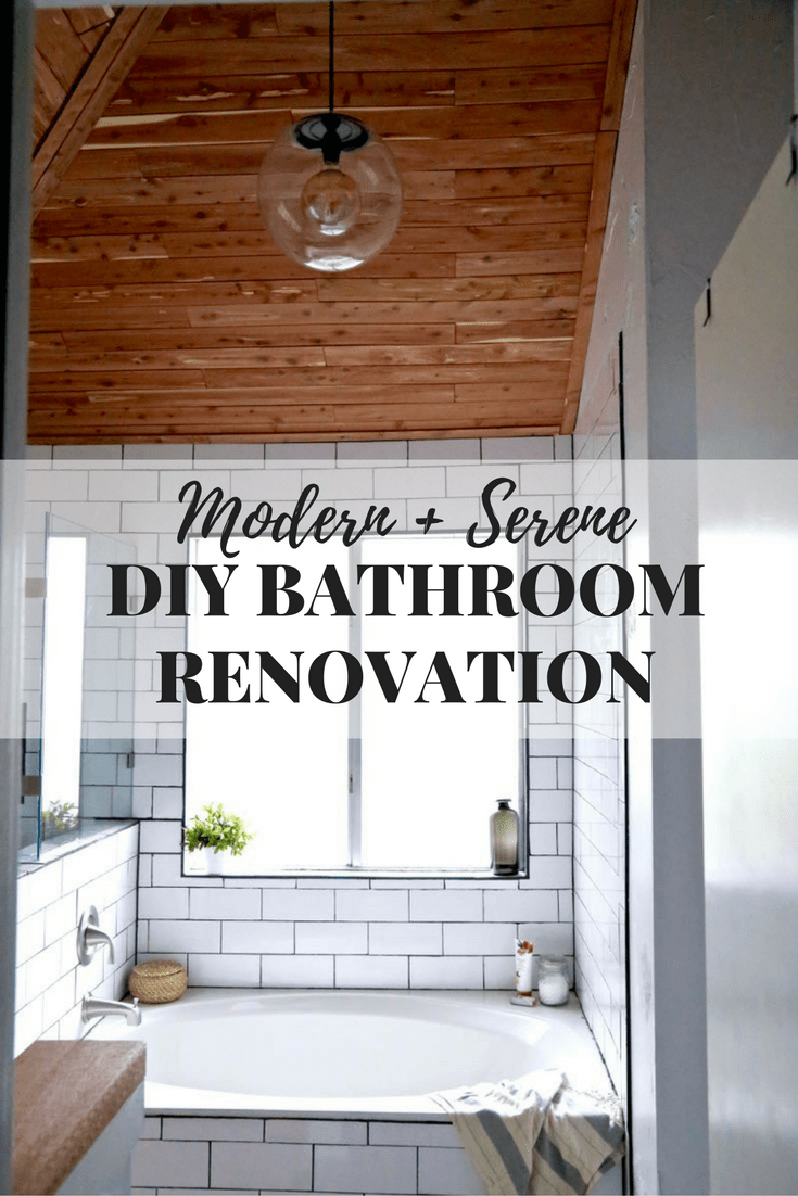 This master bathroom remodel is absolutely gorgeous. SO many inspiring ideas, gorgeous black and white tile, and it's all one big DIY renovation! You HAVE to see the rest of the photos!