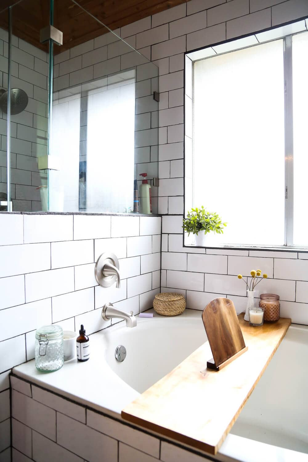 How To Remodel A Bathroom   Ideas For A Bathroom Remodel With White Subway  Tile,