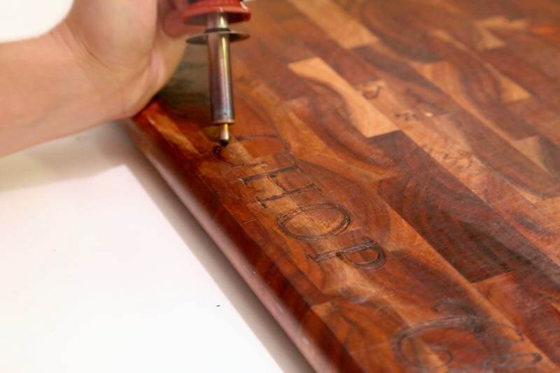 Diy Wood Burned Cutting Board Marble Tray Love Renovations