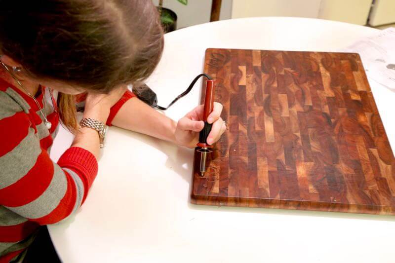 Diy Wood Burned Cutting Board Marble Tray Love Renovations