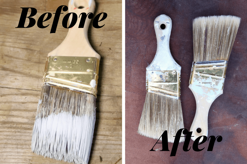 Cleaning up after a painting project is the worst. Here's a quick, simple trick for saving a dried out paintbrush from the trash can! This little hack will make a huge difference, and save you a lot of money!