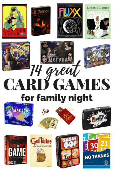 There are some really awesome ideas here for games to play with your family! These card games are great for family night and they're all easy to learn and a lot of fun to play.