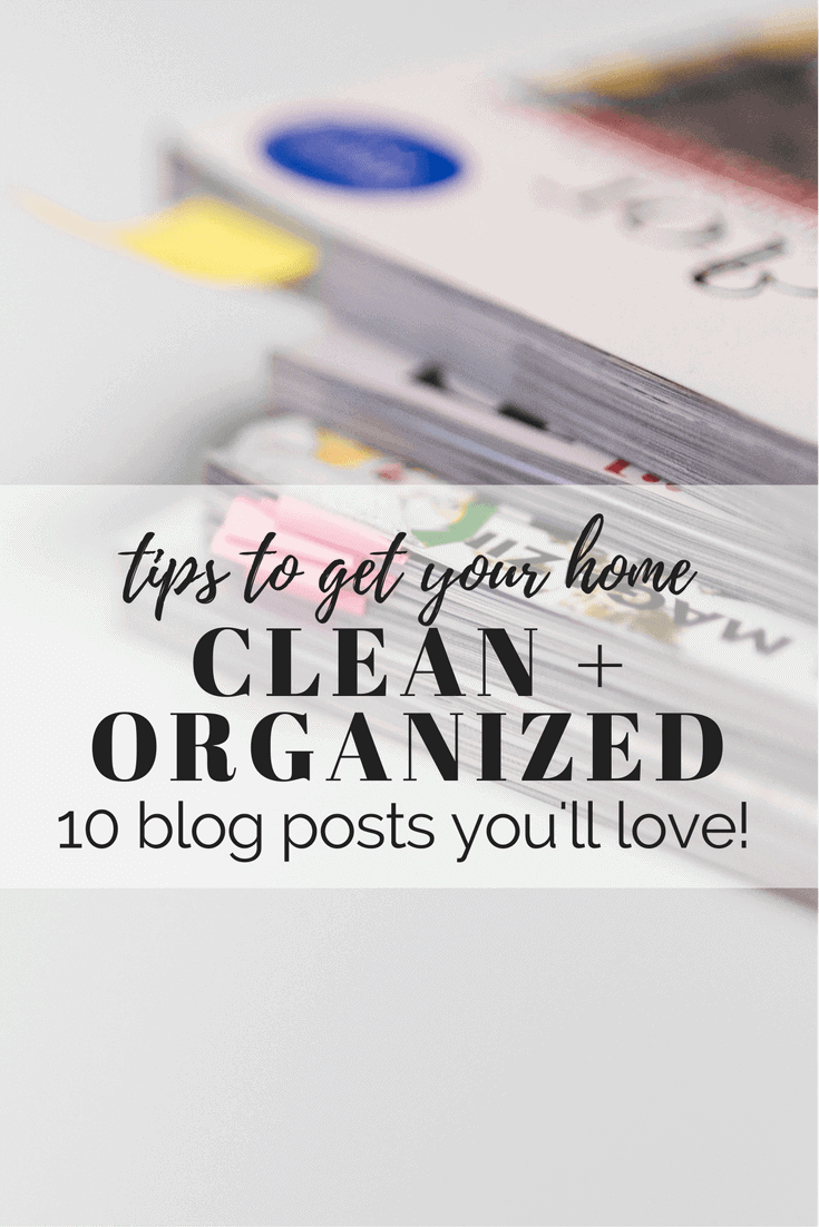 Tips, tricks, and ideas for keeping your home totally clean and organized this year. So many great ideas for cleaning your home!