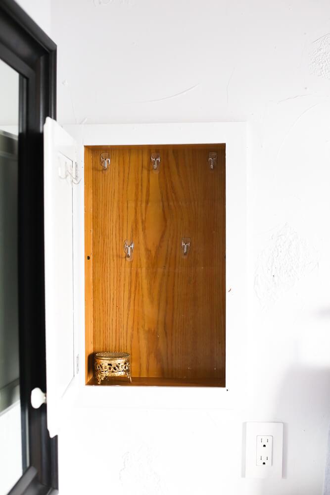 empty medicine cabinet