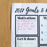 2017 Goals + Resolutions Printable