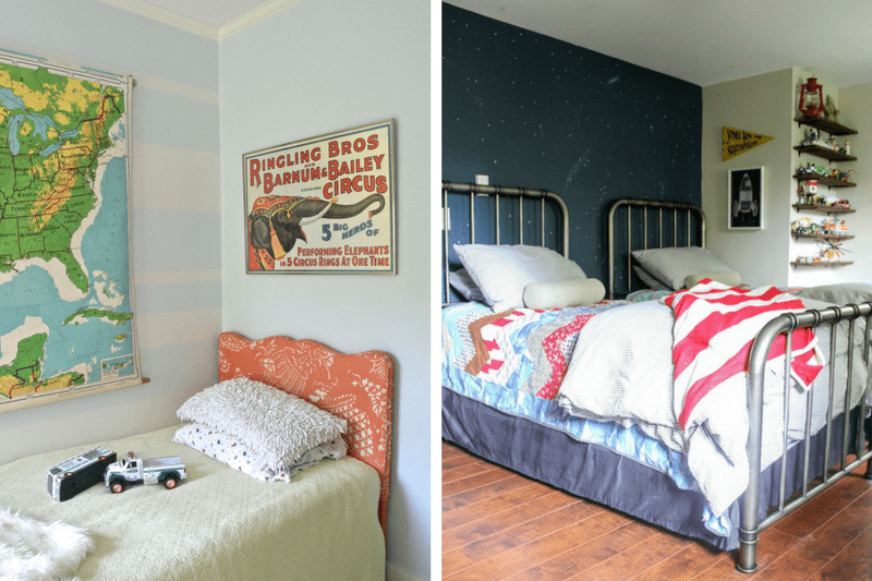 Tons of great inspiration and ideas for kids' rooms. Great gender neutral and boy rooms for toddlers and kids!