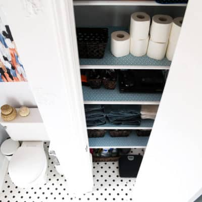 Great tips on organizing your linen closet on a budget. So many great ideas using items you can find at the Dollar Store - you'll have so much more storage once you're done!