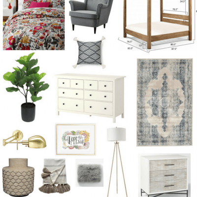 This gorgeous master bedroom mood board has some great inspiration for a cozy, moody master bedroom.