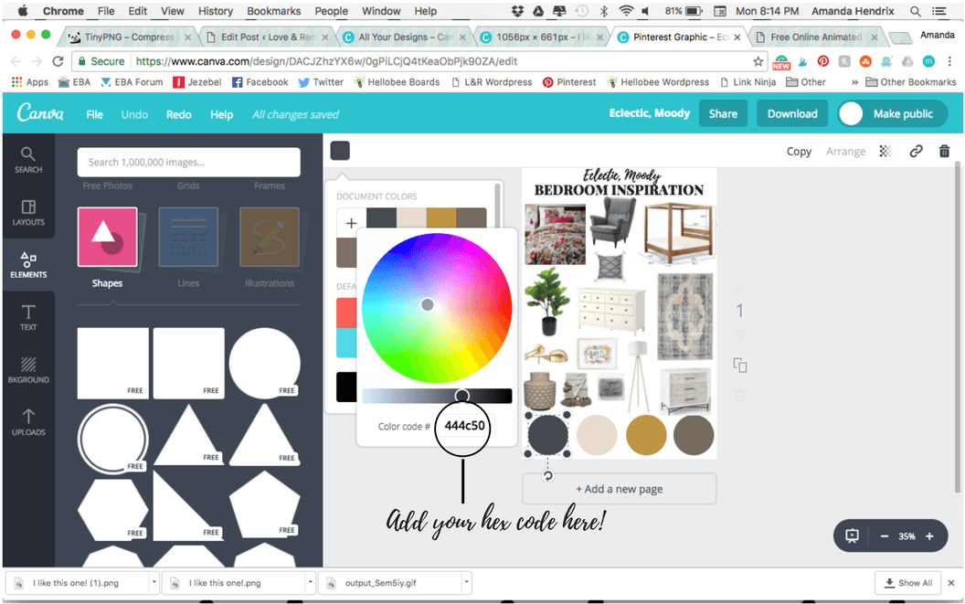 tips for creating a mood board with Canva