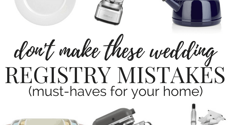 What to put on and leave off your wedding registry autos for Things to put on your wedding registry