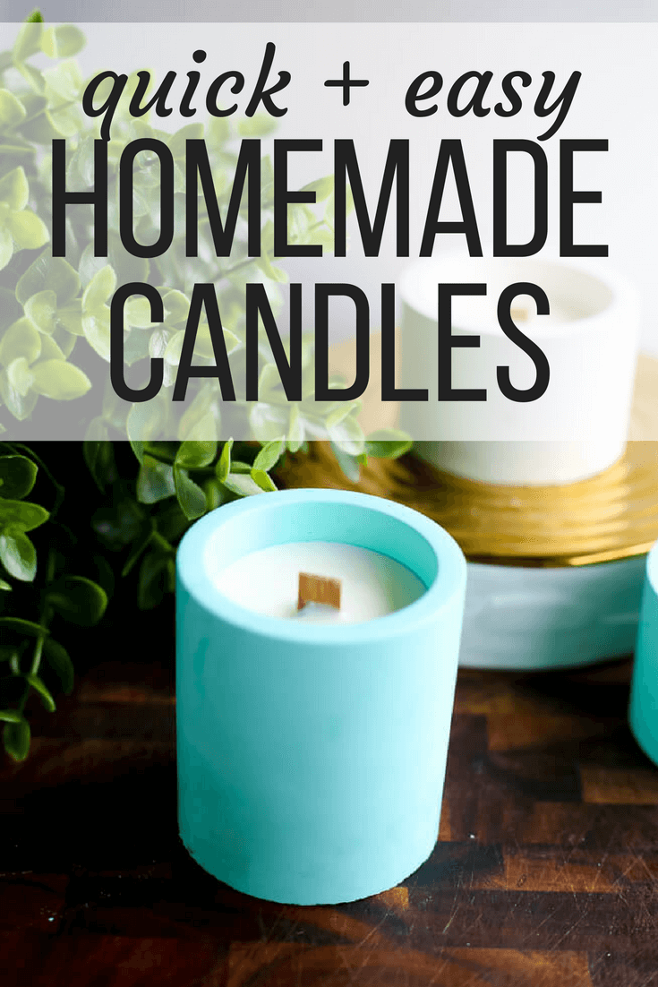 """Homemade candles with text overlay - """"Quick & easy homemade candles"""""""