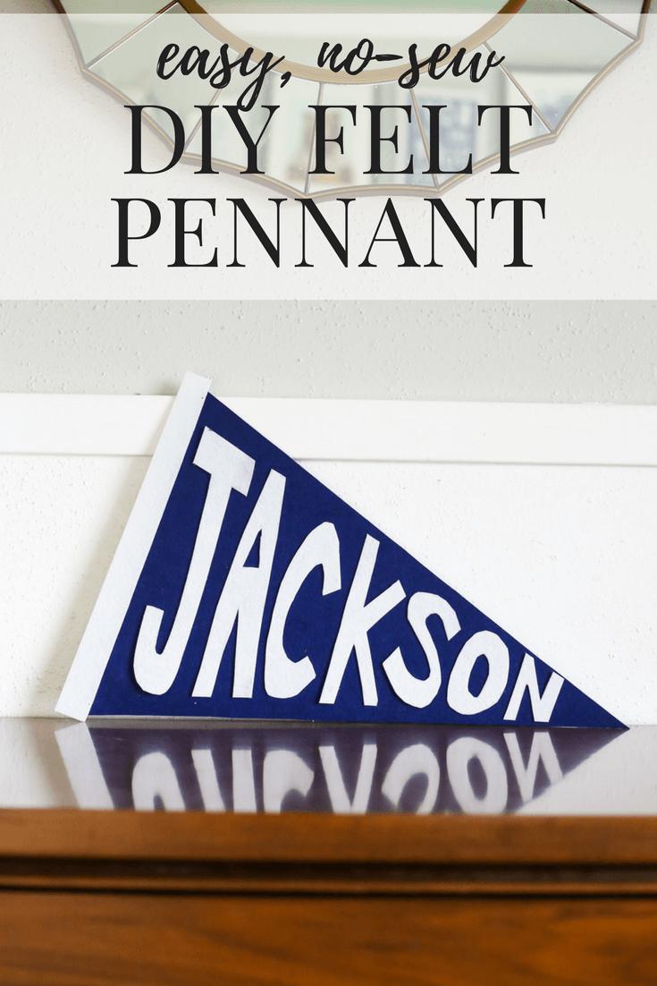 felt pennant DIY