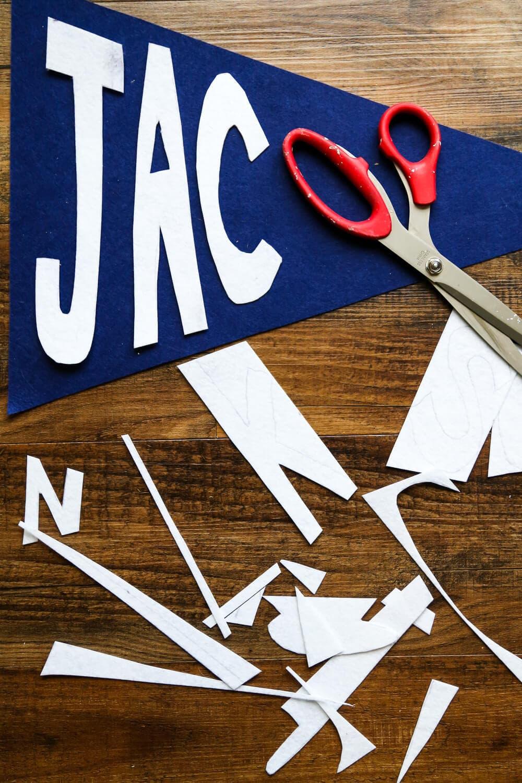DIY pennant banner idea