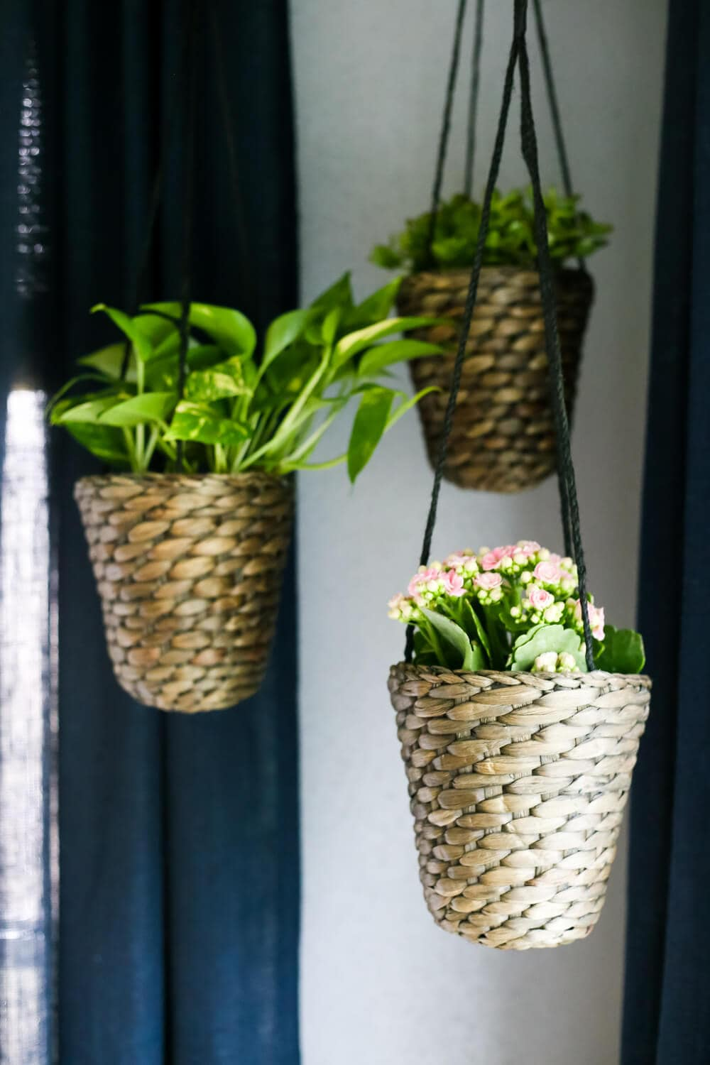 how to add simple hanging planters from