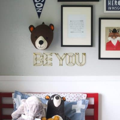 An adorable, colofrful gender-neutral big kid room. Great ideas for how to decorate a room for your toddler or preschooler.