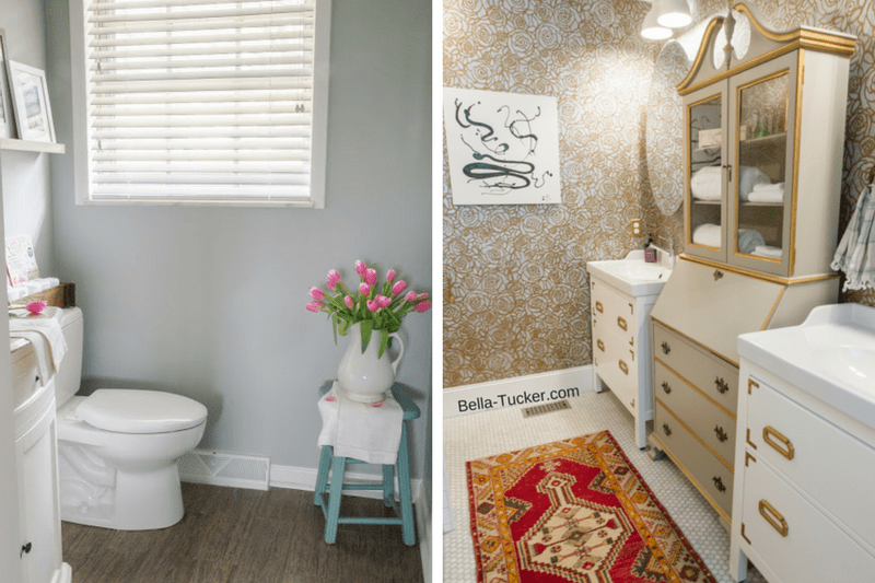 Half Bathroom Or Powder Room: 8 Amazing (and Affordable) Powder Room Makeovers